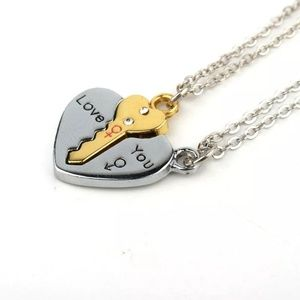 Jewelry - Key Heart Love You Necklace Set  B10